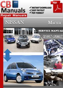 nissan micra 1987-2007 service workshop manual | service repair manuals
