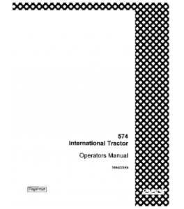 Case Ih International 574 Tractor Operators Manual