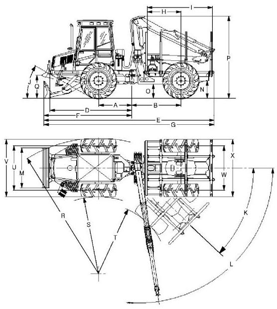 John Deere 1010B, 1058 Wheeled Forwarder Service Repair