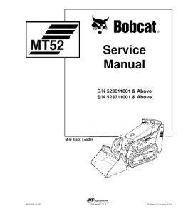 Download Bobcat Mt52 Mini Track Loader Service Repair