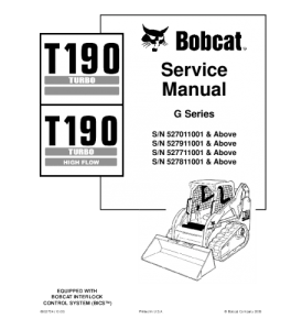 Download Bobcat T190 Turbo T190 Turbo High Flow Compact