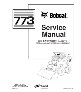 Download Bobcat 773 Skid Steer Loader Service Repair