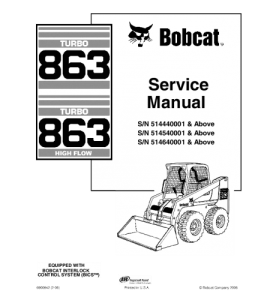 Download Bobcat 863 Skid Steer Loader Service Repair