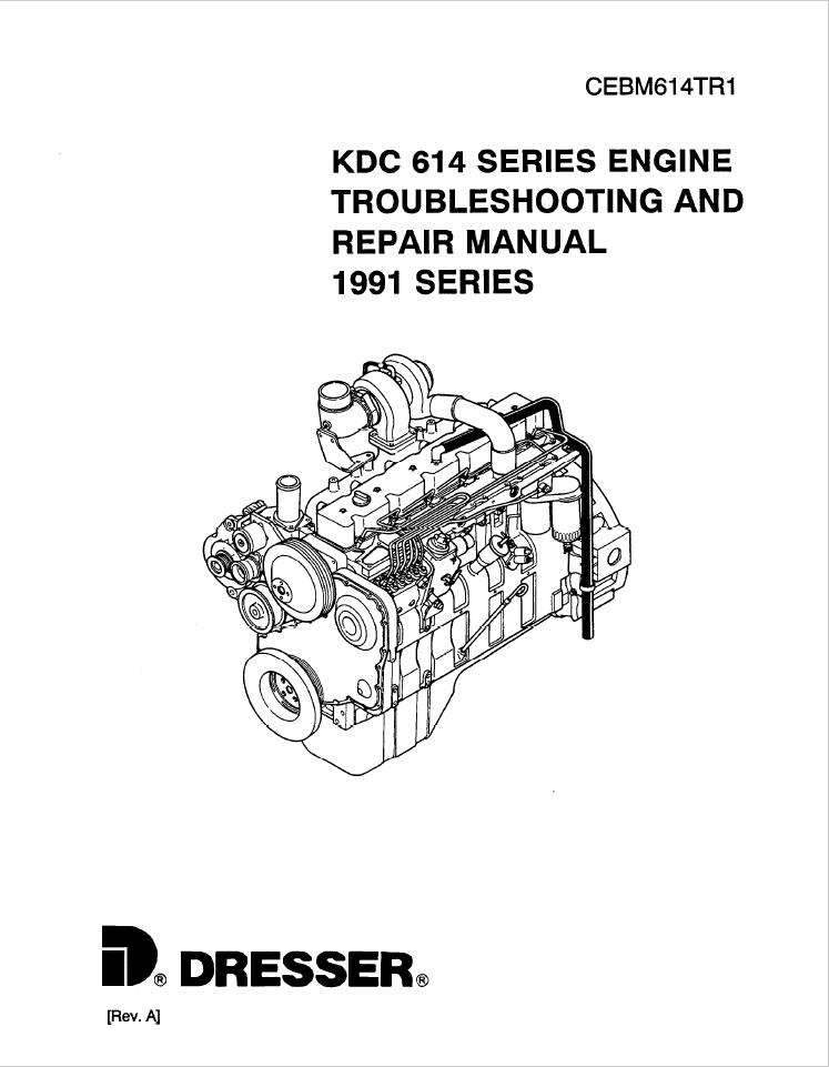 Komatsu Dresser KDC 614 1991 Model Series Diesel Engine