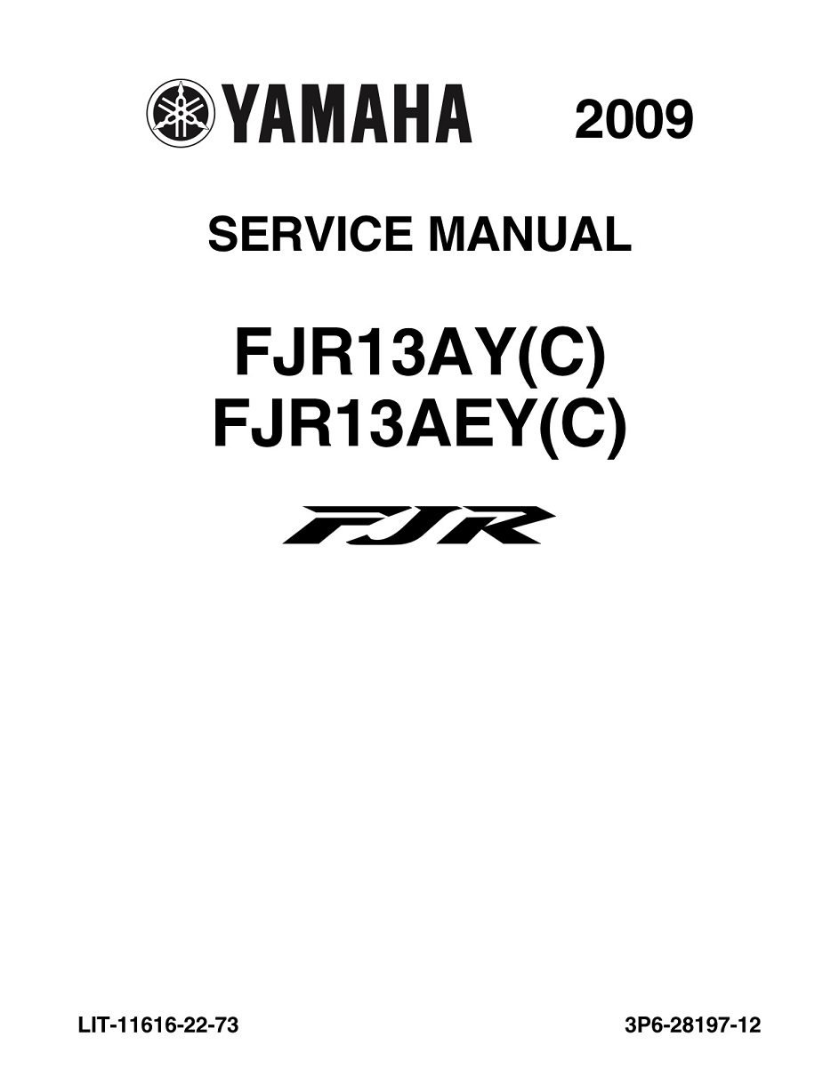 YAMAHA MOTORCYCLE FJR 1300A Workshop & Repair manual