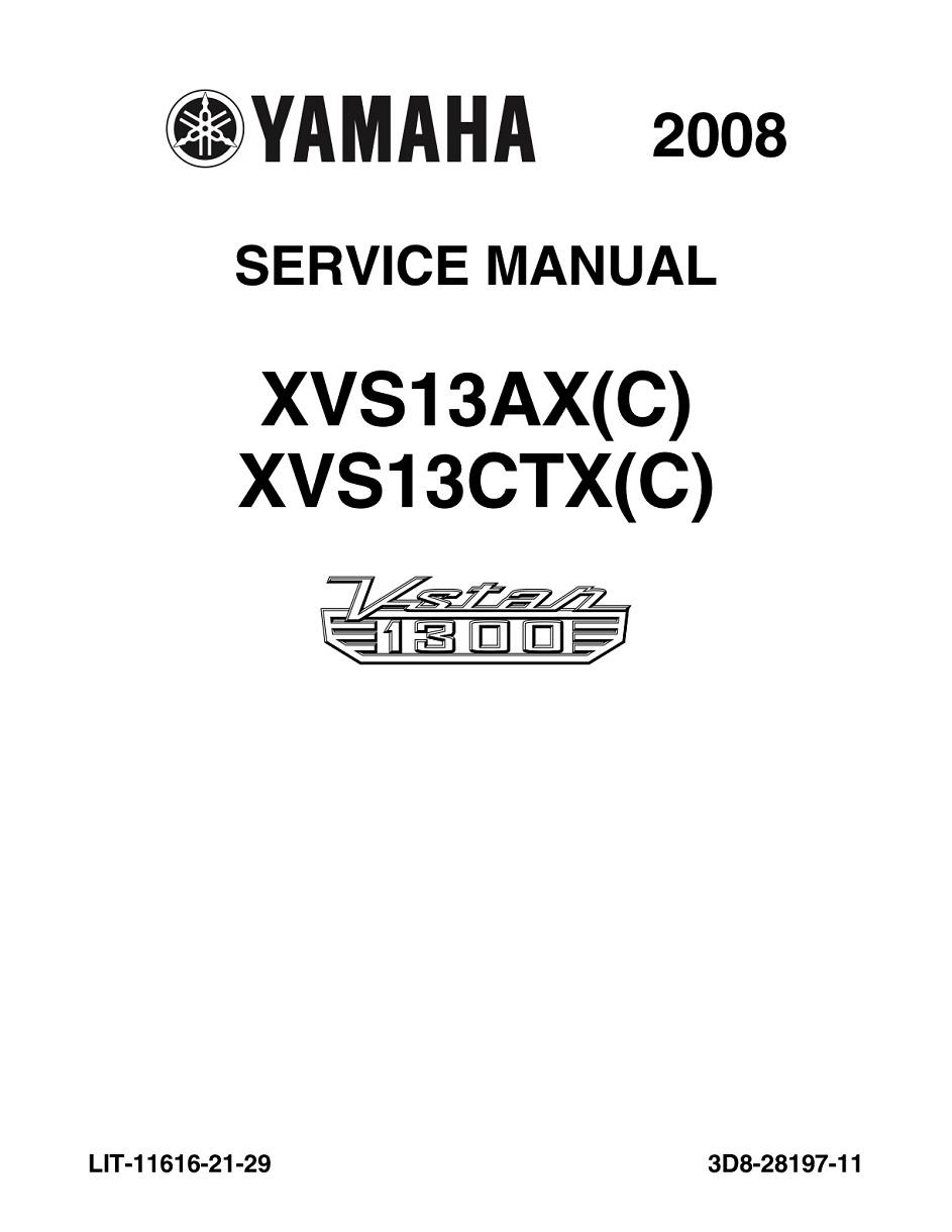 YAMAHA MOTORCYCLE V STAR 1300 Workshop & Repair manual