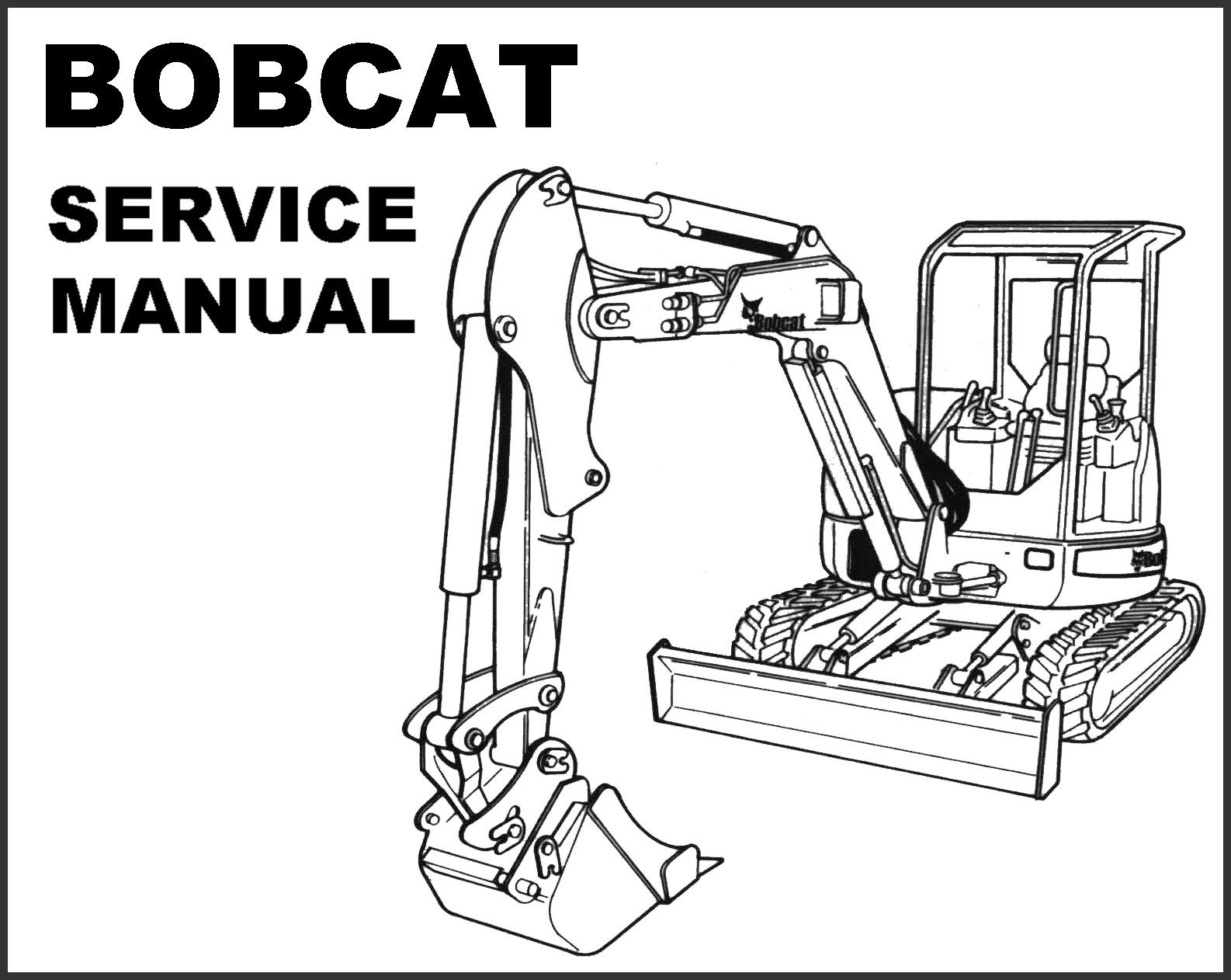BOBCAT 435 Mini Compact EXCAVATOR SERVICE Repair MANUAL