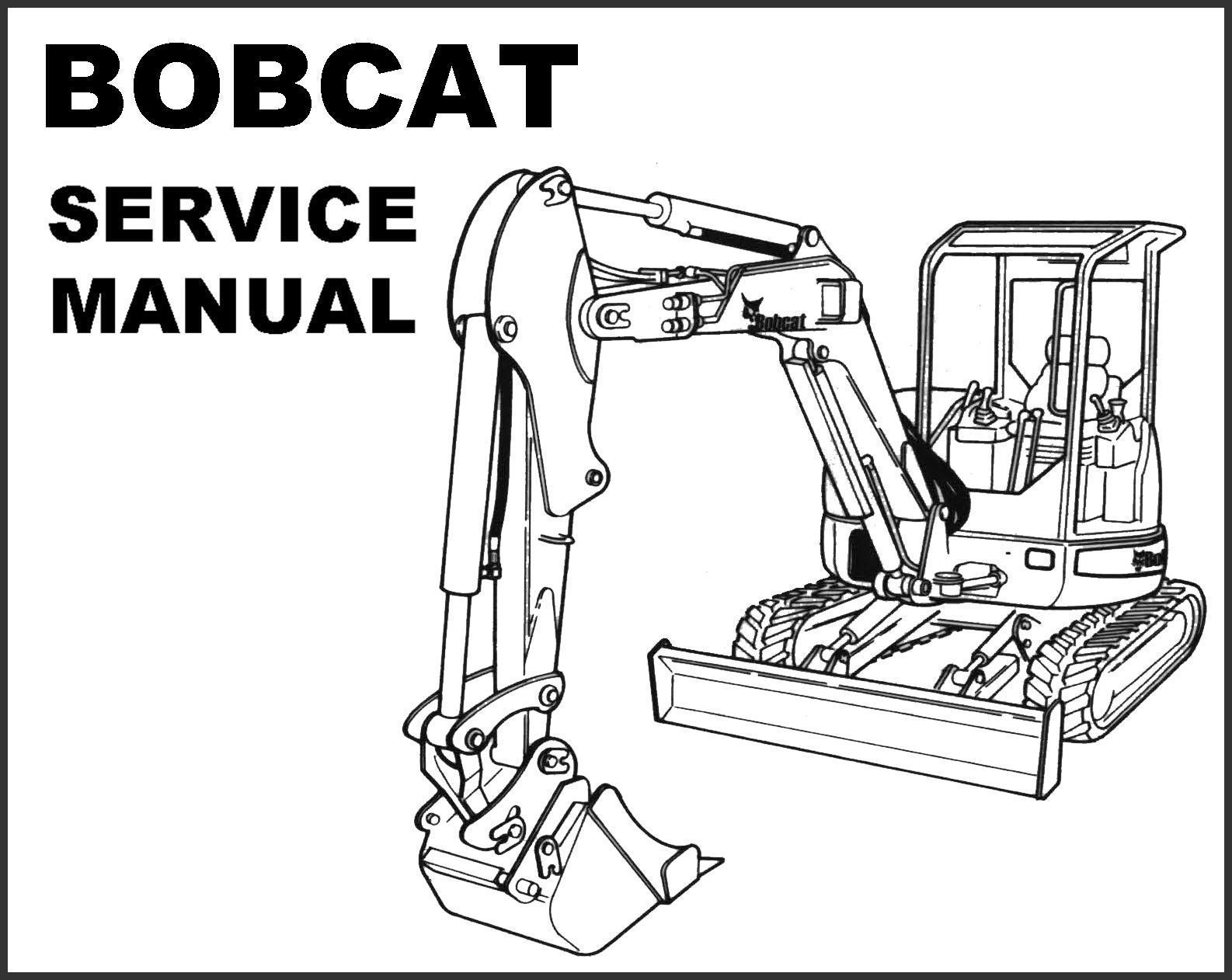 BOBCAT 435 Mini Compact EXCAVATOR SERVICE Repair MANUAL