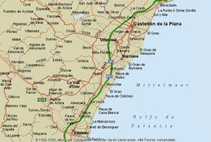 mapa costa de valencia
