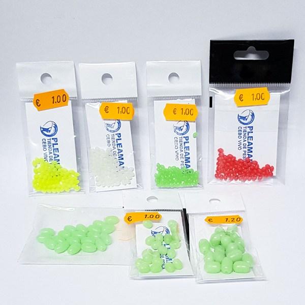 Perlitas de silicona fluorescentes