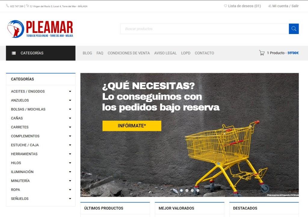 tienda de pesca online