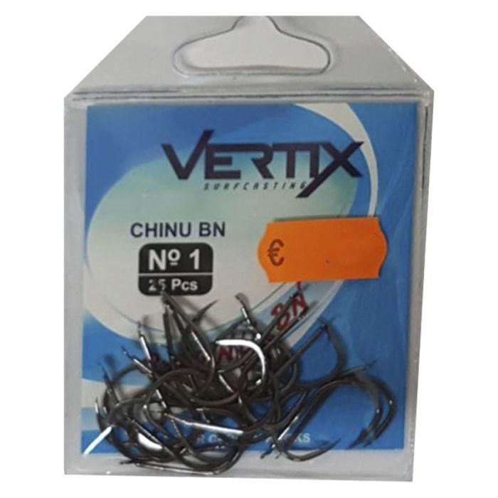 Anzuelo Vertix Chinu BN - Paleta - 25 unidades