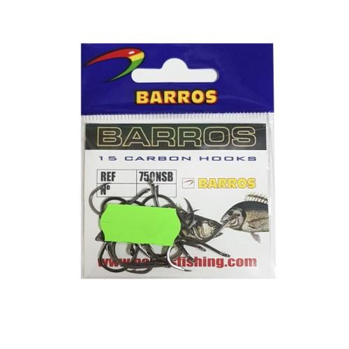 Anzuelos Barros 750NSB carbono - ojal