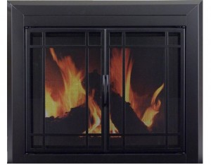 Pleasant-Hearth-EA-5010-Easton-Glass-Firescreen-Midnight-Black