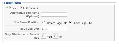 Joomla 1.5 Page Title Plugin