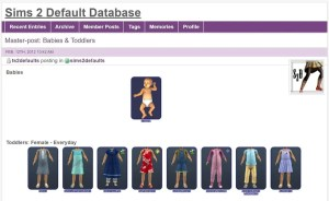 Sims 2 Default Database