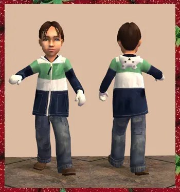 Sims 2 Toddler CC - Outerwear 2