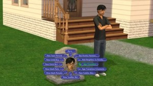 Sims 2 Tombstone of LIfe and Death - Age Transition