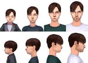 The Sims 2 Toddler CC - Hair