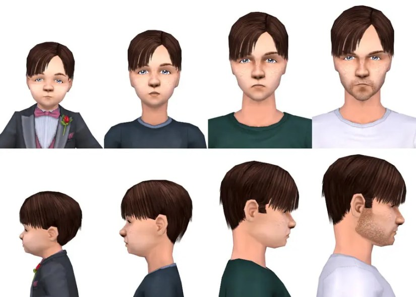The Sims 2 Toddler CC - Hair