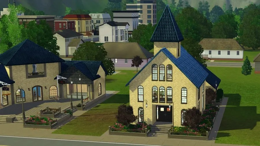 Sims 3 Wedding Chapel