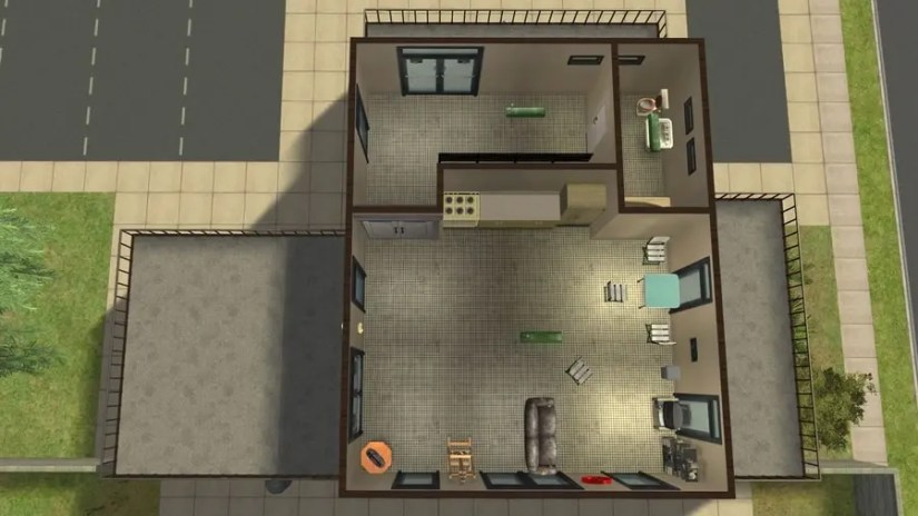 Sims 2 Asylum Top Floor