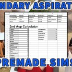 Sims 2 Premade Sims Secondary Aspirations