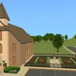 The Sims 2 Pleasantview Church & Cemetery | Lot Download