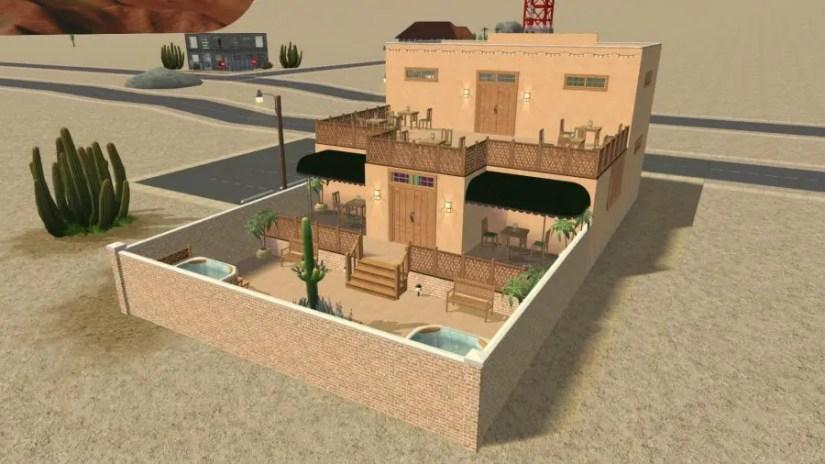 Dirty Melba CC Fence - Sims 2 Strangetown Restaurant