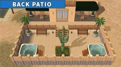 Sims 2 Strangetown Restaurant Bar BACK PATIO 2