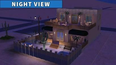 Sims 2 Strangetown Restaurant Bar NIGHT VIEW 2