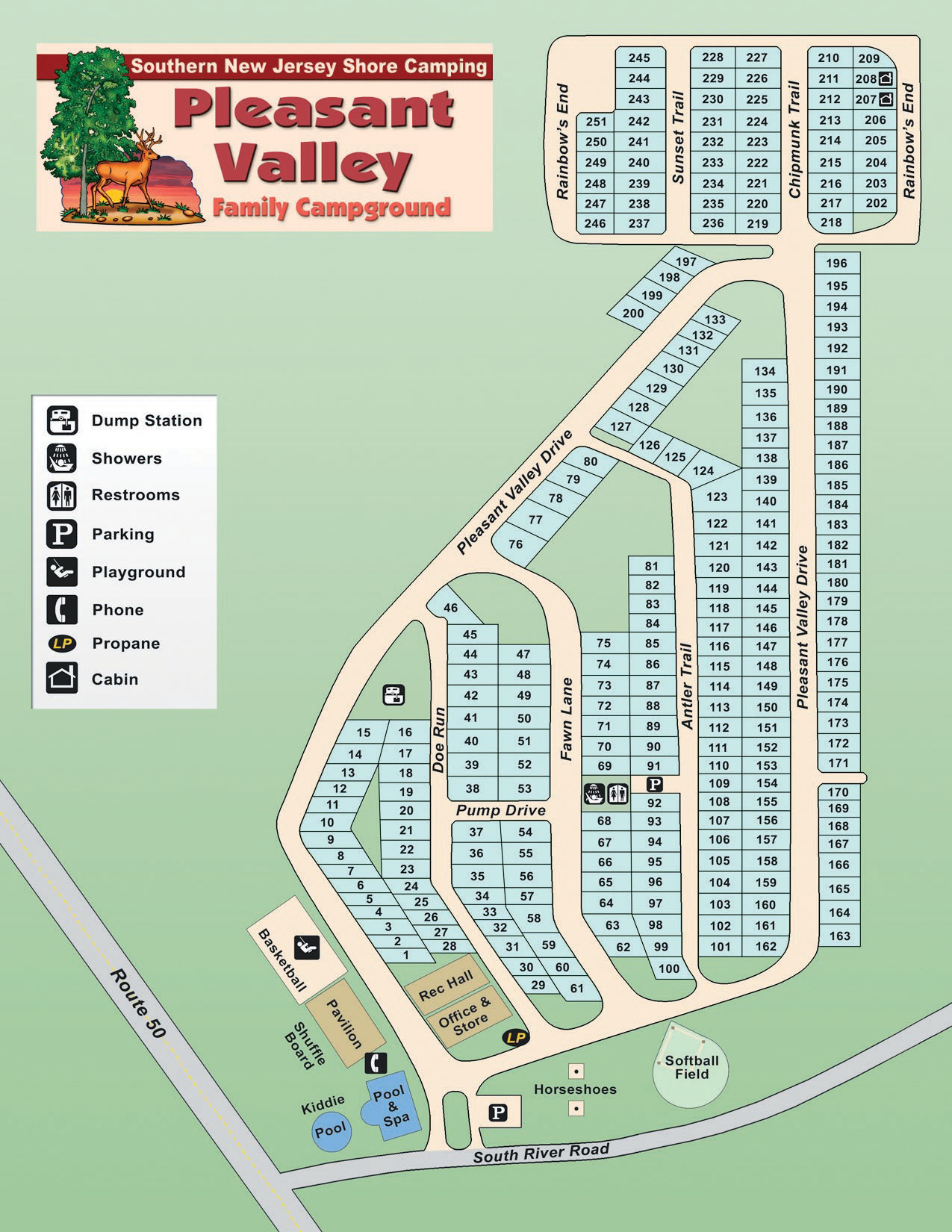 Pleasent Valley Map : pleasent, valley, Pleasant, Valley, Family, Campground, Rules