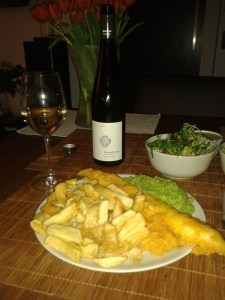 The best food pairing, not even chippy gravy would have improved it!