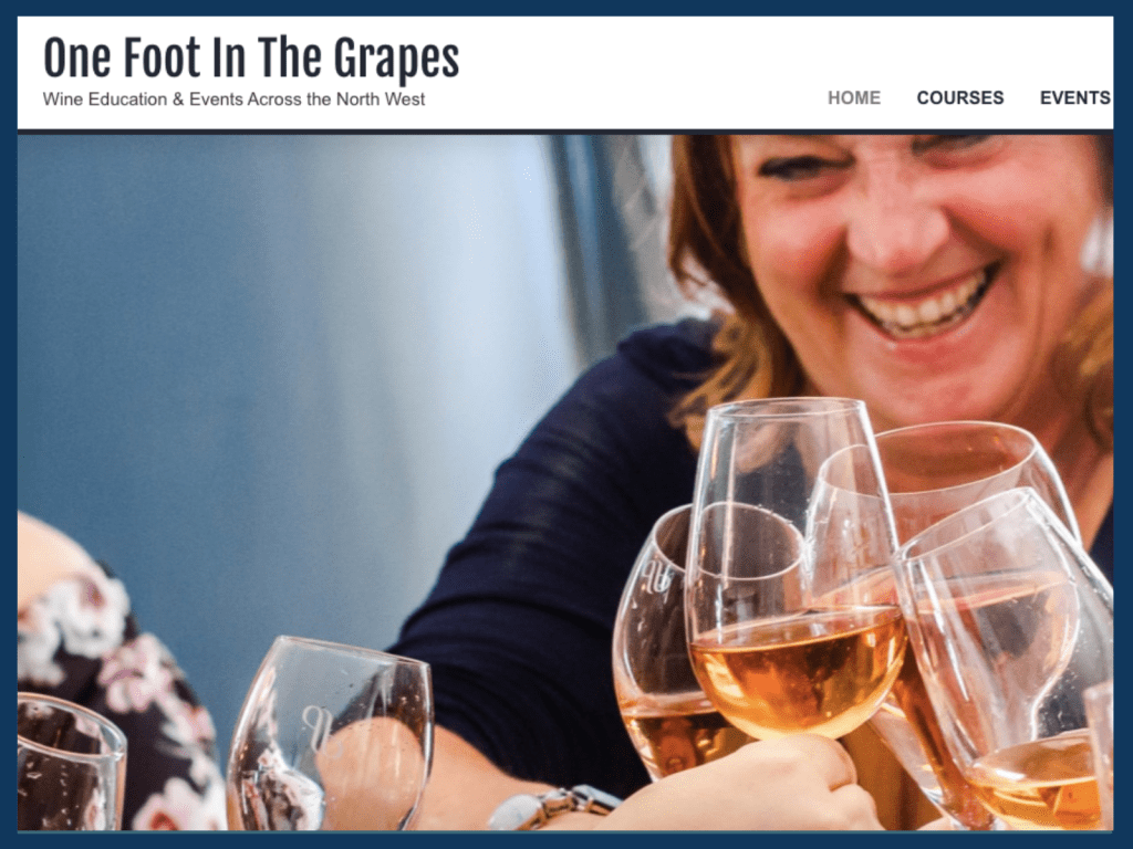 One Foot In The Grapes' Website