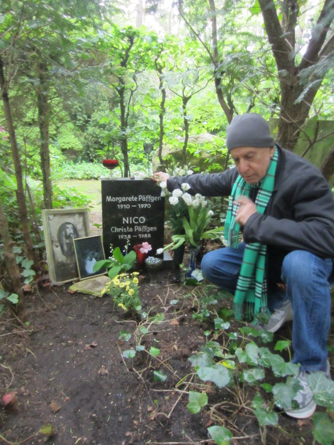 Photo of Danny Fields in forest outside Berlin by Florian Hayler of the Ramones Museum.