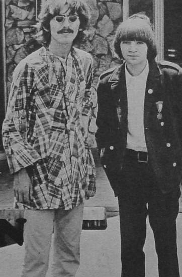 George Harrison and Rodney Bingenheimer