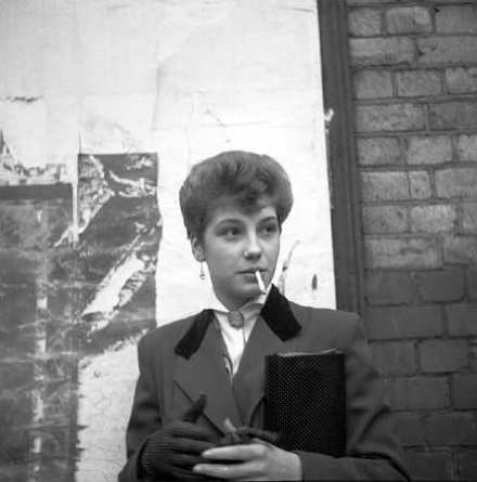 Teddy Girl, Rose Price smoking.