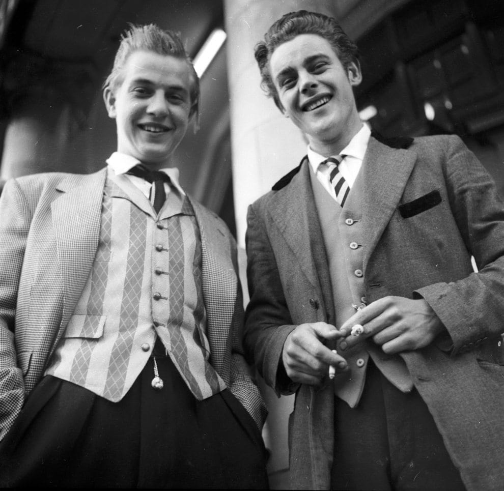 Teddy Boys in posh suits.