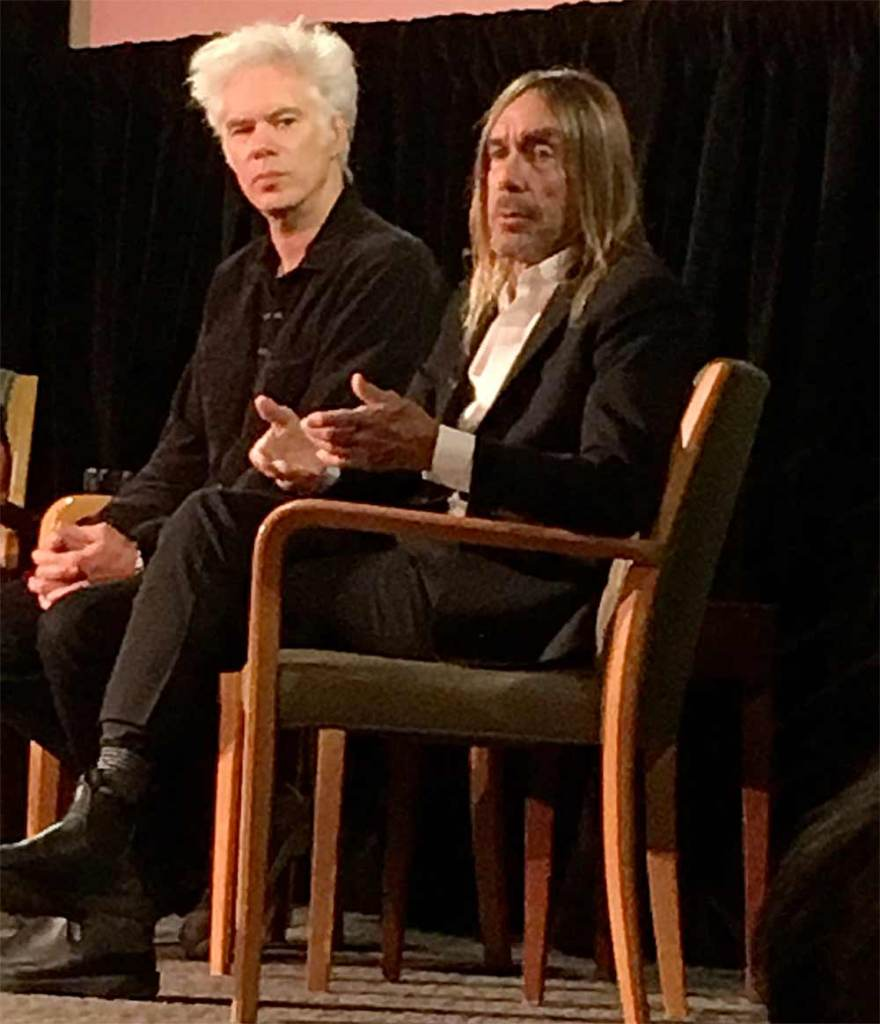 Jim Jarmusch and Iggy Pop in NYC