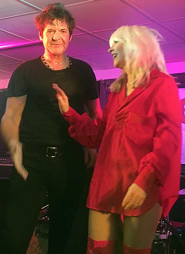 Clem Burke and Debbie clone