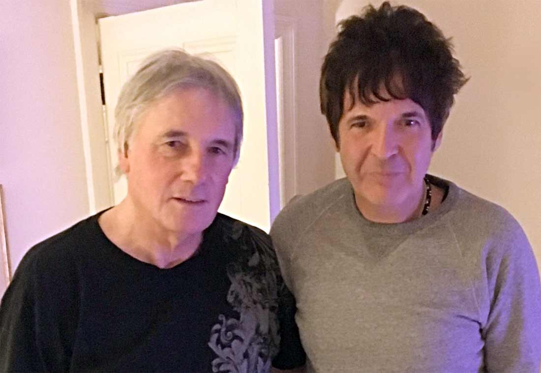 Mick Avory and Clem Burke in Mick's living room on 12/30/16. Photo: Amy Haben