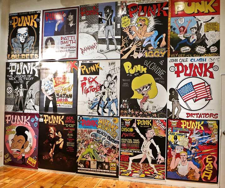 Howl Gallery Punk Magazine exhibit. NYC 2016