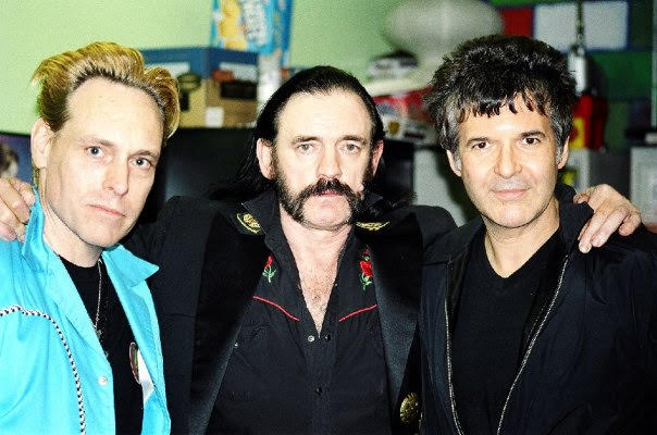 Danny B. Harvey, Lemmy, and Clem Burke. Photo by Dawn Laureen