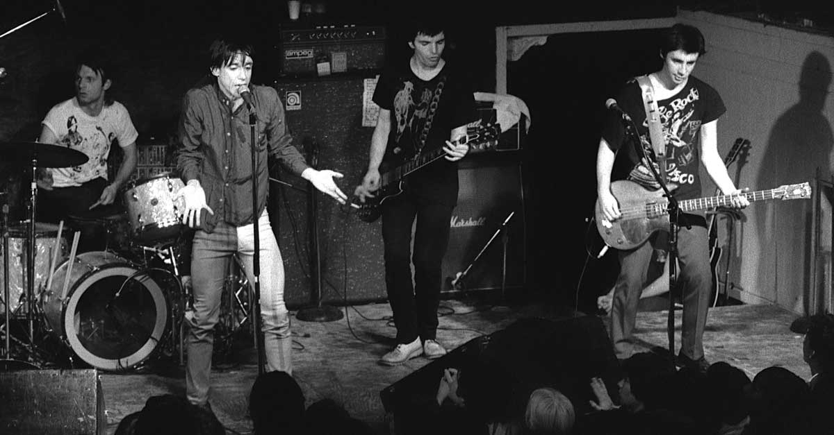 Iggy Pop 1979 with Brian James on guitar and Glen Matlock on bass - photo by © Tom Hearn