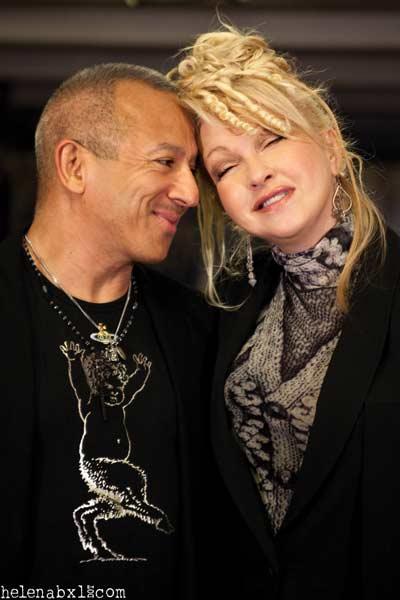 Michael Alago and Cyndi Lauper - Photo by Helena Van Leirsberghe