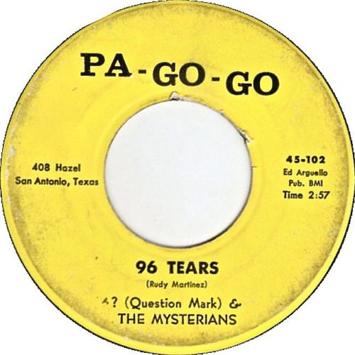 Pa Go Go Record label for 96 Tears