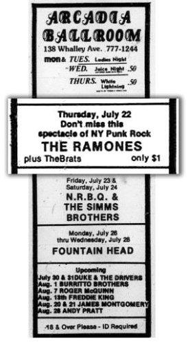 Ramones in New Haven 1976