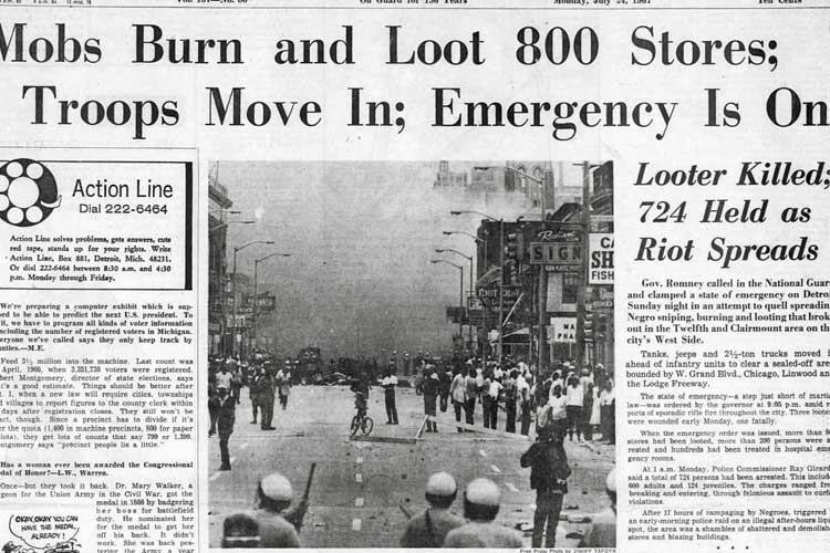 Detroit Free Press Riots 1967