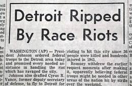 1967 Detroit Riot Headline