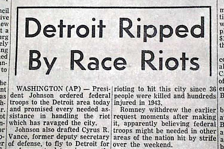 1967 Detroit Riot Headline